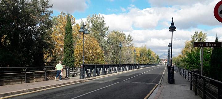 Visitas al Puente de Hierro en Logroño