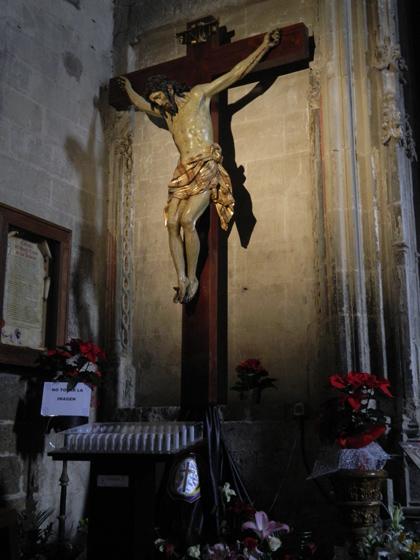 Cristo crucificado en la Iglesia de Palacio