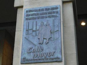 Placa de la Calle Mayor de Logroño