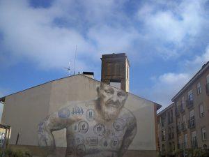 Mural de la Casa de la Inquisición en Logroño